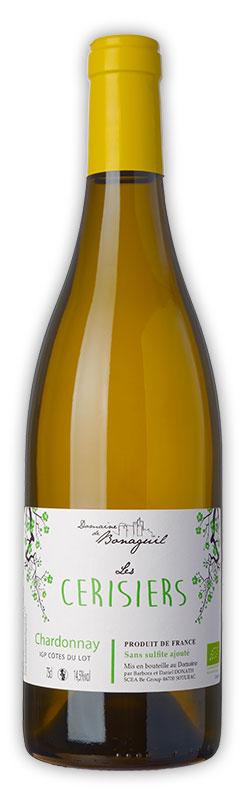Les Cerisiers, vin blanc, chardonnay, Domaine de Bonaguil - Vin IGP Côtes du Lot