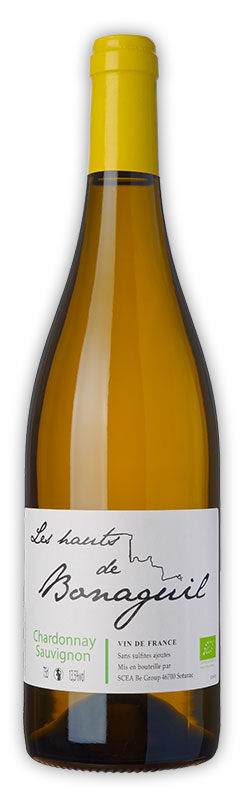 Les Hauts de Bonaguil, vin blanc, Chardonnay sauvignon - Vin IGP Côtes du Lot