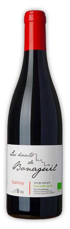 Les Hauts de Bonaguil, vin rouge, Gamay - Vin IGP Côtes du Lot