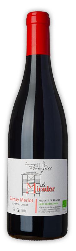 Le Mirador, vin rouge, Gamay Merlot, Domaine de Bonaguil - Vin IGP Côtes du Lot