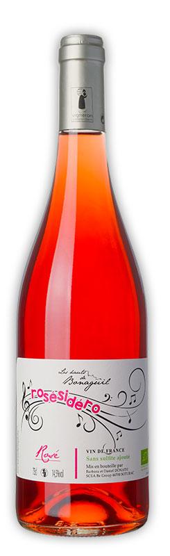 Rosésidéro, vin rosé, Domaine de Bonaguil - Vin IGP Côtes du Lot